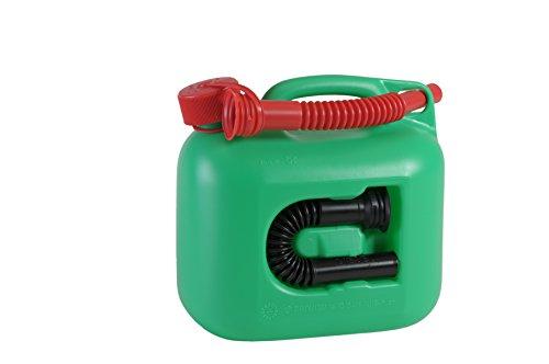 Preisvergleich Produktbild Kraftstoff-Kanister PREMIUM 5l für Benzin, Diesel und andere Gefahrgüter, UN-Zulassung, made in Germany, TÜV-geprüfter Produktion, grün