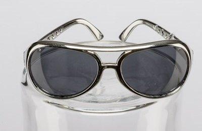 Faschingszubehör Brille Rock´n Roll Elvis silber