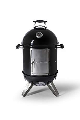 Barbecook Räucherofen Smoker für kalt und heiß räuchern mit Temperatur-Sonde und regulierbarer Luft-Zufuhr, Stahl, schwarz, 88 cm hoch -