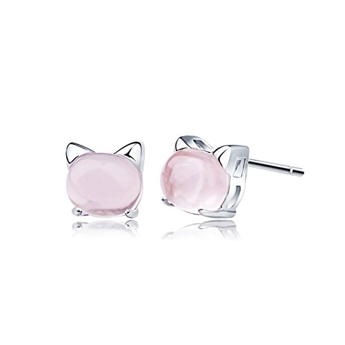 earrings-blingery-925-sterling-silver-cat-earrings-white-gold-plated-with-pink-quartz