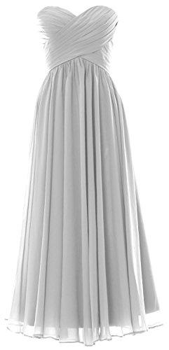 MACloth - Robe - Trapèze - Sans Manche - Femme Blanc