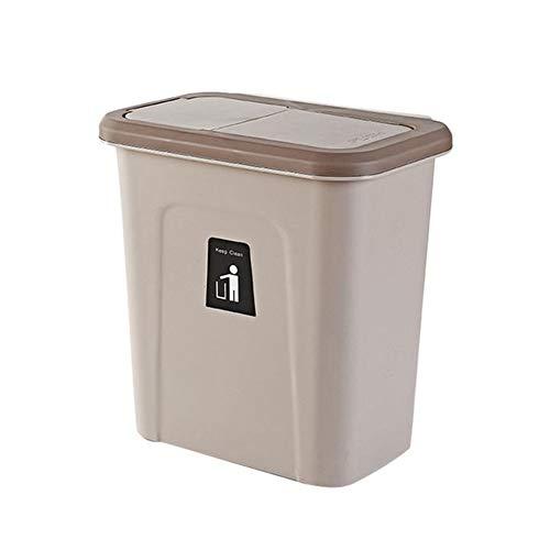 UXELY Abfalleimer zum Aufhängen in der Küche, Abfalleimer für Großraum-Staubschränke mit Deckel, multifunktionaler Abfalleimer zum Platzsparen, Über die Schranktür hängen Mülleimer(Grau) (Space Saver Papierkorb)