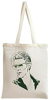 David Bowie Green Stencil Print Tote Bag
