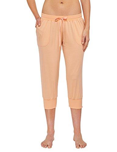 822612e0d0 Schiesser Damen Schlafanzughose Jersey Hose 3/4 Gelb apricot 603 ...