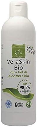 Benessence - Gel d'Aloe Vera Biologique pur à 99,8% - Hydratant - Apaisant - Produit Italien issu de Nos C