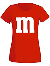 Nation Damen T-Shirt Rundhals Karneval Fasching JGA - Gruppen-Kostüm M Aufdruck - MM