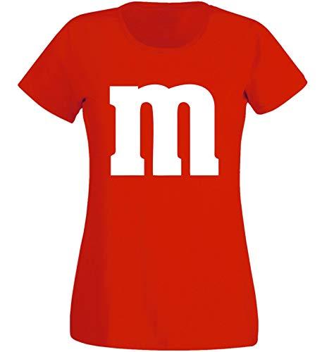 Rundhals Karneval & Fasching JGA - Gruppen-Kostüm M Aufdruck - MM (L, Rot) ()