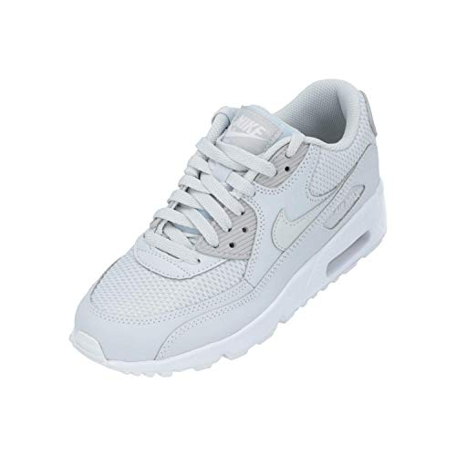 Nike Schuhe - Air Max 90 Mesh (GS) Silber/Silber/Weiß Größe: 36.5 (Für Schuhe Silber Frauen Nike)