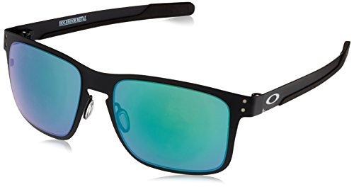 Oakley Herren 0OO4123 Sonnenbrille, Braun (Matte Black), 55