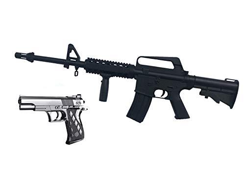 rayline Fusil Airsoft 9901 (Pression Manuelle du Ressort), matériau: ABS (Antichoc), réplique à l'échelle 1: 1, Longueur: 83 cm, Poids: 1000 g(Moins de 0,5 Joules - à partir de 14 Ans)