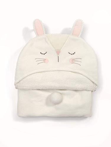 Mamas & Papas Infant Hooded Towel Rabbit, Off White