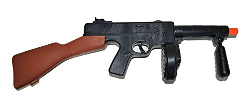 Halloweenia - Kostüm Accessoire Gewehr Bandit- Mafia- Military- Mottoparty , 50cm, Braun