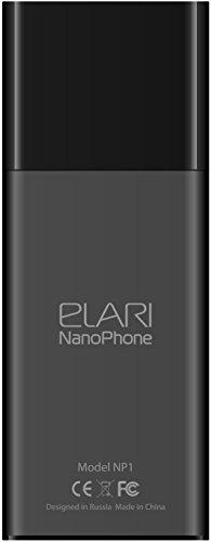 Elari NanoPhone  Tel  fono supercompacto de dise  o exclusivo con sincronizaci  n Bluetooth y reproductor de MP3