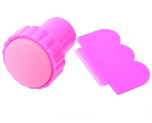 Accessoire nail art : tampon stamping caoutchouc et grattoir