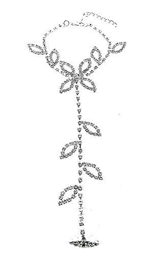 Mädchen Kostüm Indischen Sexy - KIRALOVE Ring Geschenkidee Armband Handgeschirr Frau Mädchen Strass Brillante Glieder Bijoux Geburtstag Valentinstag Schmuck Weihnachten Kostüm Schmuck