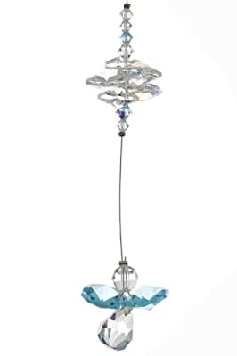 Swarovski Cascade Crystal Guardian Angel Birthstone Suncatcher MARCH - AQUAMARINE