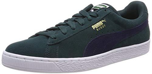Puma Unisex-Erwachsene Suede Classic Sneaker, Weiß (Ponderosa Pine-Peacoat), 44 EU Suede Männer Sneakers