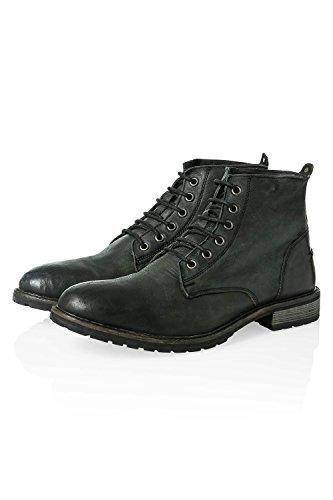 Otto Kern Herren Stiefeletten Schnürstiefel Boots Black
