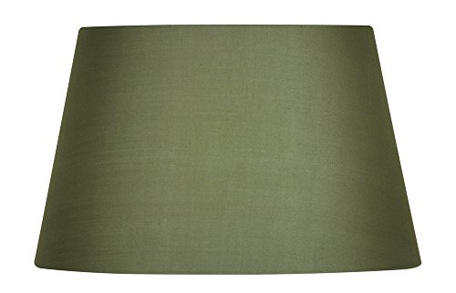 Oaks Lighting Lampenschirm, trommelförmig, aus Baumwolle, 30,5cm Klassisch grün