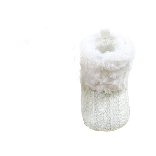 Clode® Schuhe für 0-36 Baby Snow Boots Soft-Krippe Schuhe Kleinkind Stiefel Weiß