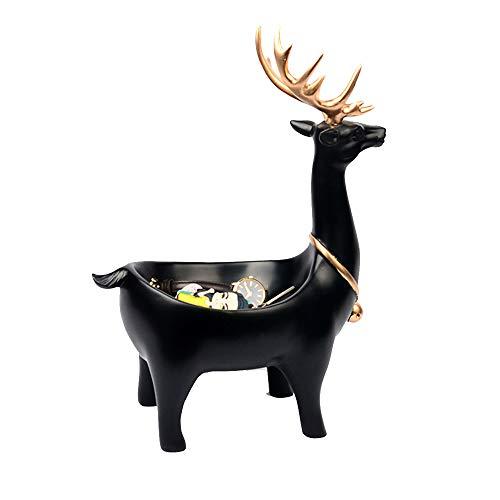 XHHWJJ Creative Auspicious Lucky Art Decoration - Moderne minimalistische Schuhveranda-Aufbewahrungsbox, nordische dekorative Ornamente Wohnaccessoires, Marmor (Color : Black) -
