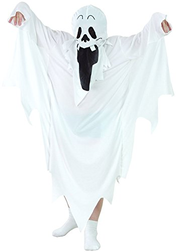 Gespenst Kostüm für Kinder - lustiges Gespensterkostüm Kind für Halloween (122/128)