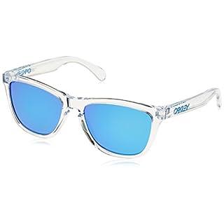 Oakley Herren Frogskins 9013A6 55 Sonnenbrille Weiß (Polished Clear/Sapphireiridium)