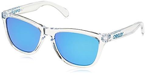 Oakley Men's Frogskins Sunglasses, Multicolour (Polished Clear / Sapphire Iridium),