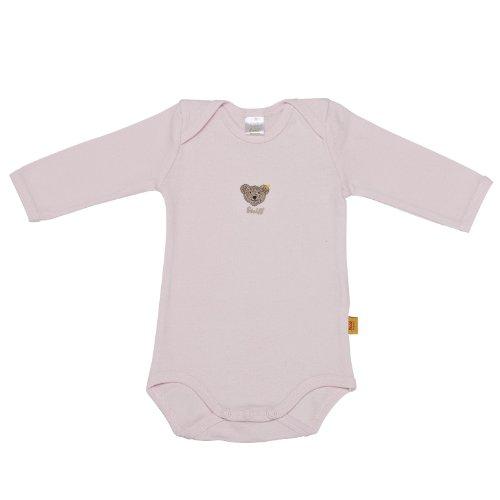Steiff Unisex - Baby Body 0008502 1/1 Arm, Einfarbig, Gr. 104, Rosa (Barely Pink)