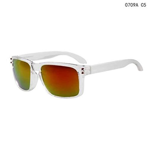 GJYANJING Sonnenbrille Sonnenbrillen Männer Sport Sonnenbrillen Im Freien Reflektierende Eyewear Colorfulr Spiegelbeschichtung Sonnenbrillen