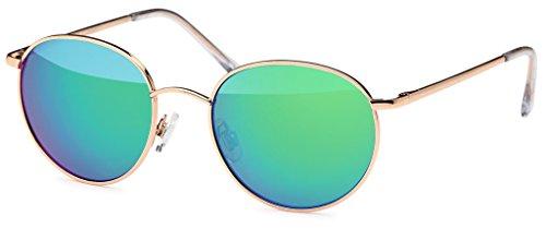 Occhiali da sole unisex occhiali rotondi occhiali hippie John Lennon 400UV fiocco verde