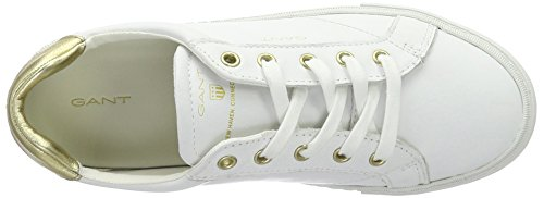 GANT Damen Alice Sneaker Weiß (bright wht.+gold)