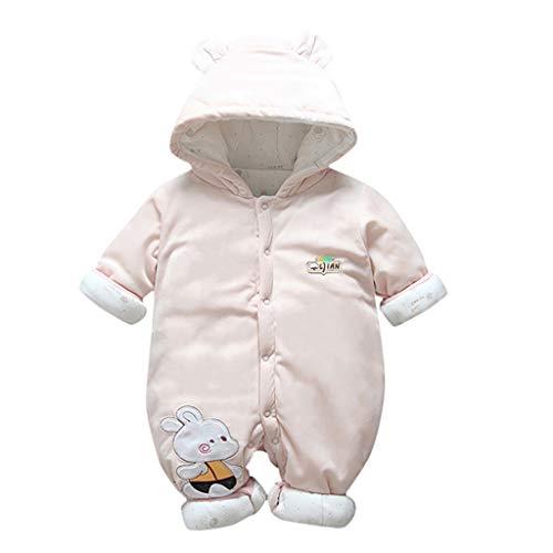 DEQueue Kinder Hoodie Strampler Mantel, Neugeborenes Kleinkind Baby Jungen Mädchen Mit Kapuze Strampler Overall Verdickt Outfits Kleidung