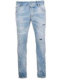 DSQUARED2 Jeans Uomo S71lb0626s30309470 Cotone Azzurro 1d40826b47c0