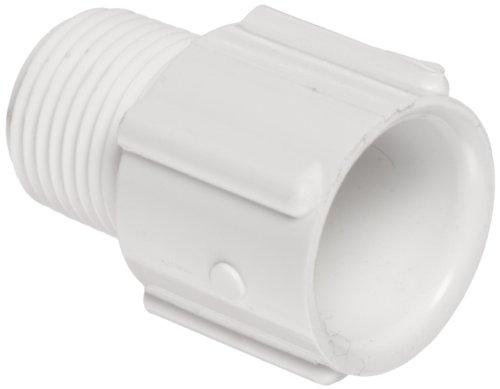 Spears PVC-Rohr Fitting, Adapter, Schedule 40, weiß, NPT Stecker X Sockel, 3