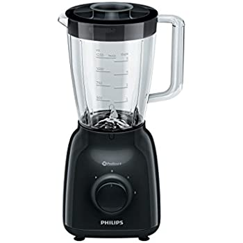 Philips licuadora/batidora de Vaso, Color Negro hr2145/90, 500 W ...