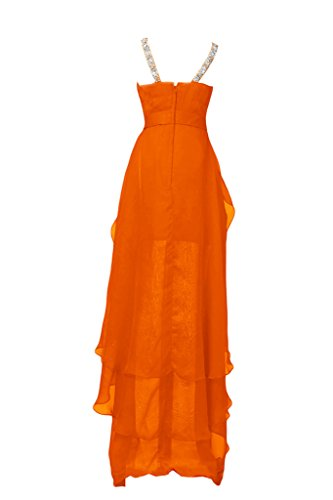 Sunvary Chic in Chiffon Hi-Lo V-Neckline Party Dress-Costume vestito da Cocktail Orange