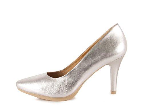 Chamby , Damen Pumps Silber