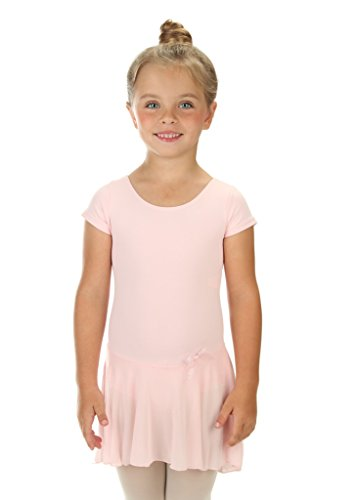 en Rüschen Kurz Röcke Ballett Trikot Tanztrikot Gymnastikanzug Turnanzug Trikot (Grobe 2-4 Jahre) Hellrosa (Tanzen Kostüme Muster)