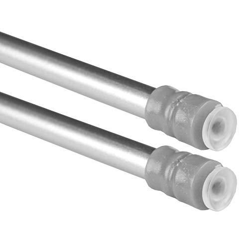 Bestlivings - morsetti con tecnica a vite, confezione da 2 pezzi, acciaio inox, argento, 60-90 cm