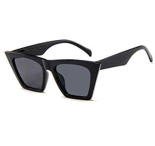 Topgrowth occhiali da sole oversize donna signora occhio di gatto uv 400 vintage retro cat eye unisex sunglasses (nero)