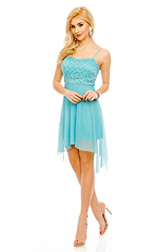 Kleid vorne kurz hinten lang mit spitze