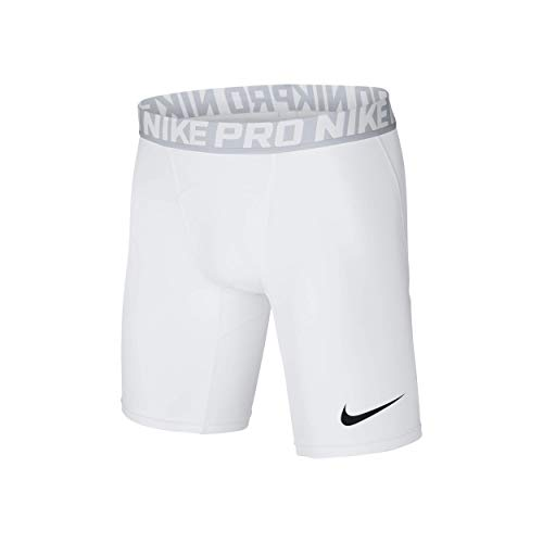NIKE Herren Kurze Hose Pro Cool Compression 6 Zoll Shorts, 838061-100, Weiß (White/Pure Platinum/Black), M -