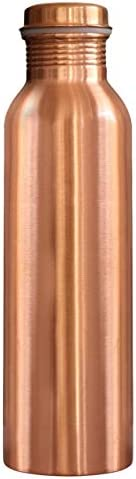 SAHEBZAADE 100% Pure Copper Bottle for Water 1 Liter I Dirt Proof Leak Proof I Joint Less I Yoga, Ayurveda Hea
