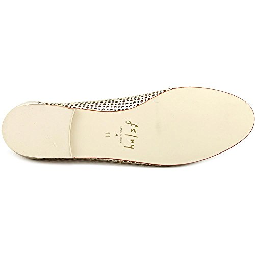 FS/NY Nymph Femmes Cuir Chaussure Plate Platino
