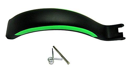 1 Bremsblech inkl. Feder und Bolzen, schwarz/grün, 205 mm, für HUDORA Big Wheel RX-Pro 205