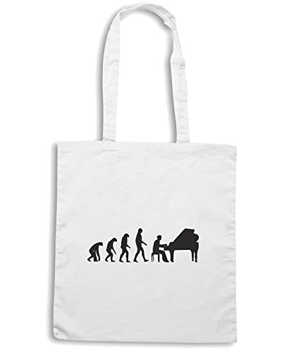 T-Shirtshock - Borsa Shopping EVO0047 Piano Evolution Maglietta Bianco