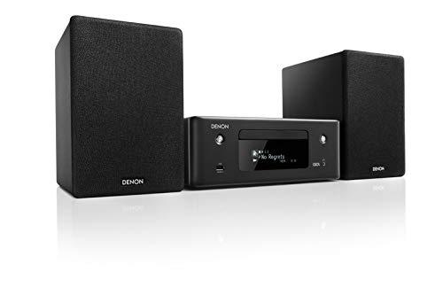 Denon N-10BKE2 CEOL N-10 Netzwerk-Kompaktanlage (2x 65 Watt, HEOS, Alexa Kompatibel, Spotify, Amazon Music, Deezer, Napster, Tidal, Internetradio, CD-Player, Bluetooth, TV-Eingang Optisch) schwarz