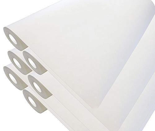 6 x Premium Renoviervlies 130g - 225m² Malervlies Anstrich-Vlies glatte überstreichbare Vliestapete weiß | je 37,5 qm 50 Meter Rolle - Strukturloses Zellstoff-Polyestervlies Rissabdeckend