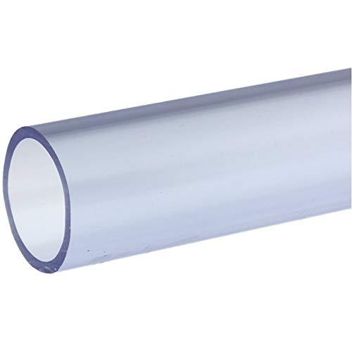 folien-zentrum PVC-U Rohr Klebekappe Winkel Klebemuffe Kugelhahn T-stück Druckrohr 1 Meter Ø 25mm - 50mm Garten Teich Koi Wasser (Rohr, 32mm) -